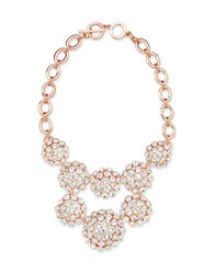Anne Klein Cubic Zirconia Toggle Closure Necklace Pink
