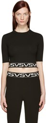 Versus Black Cropped Vs Pullover