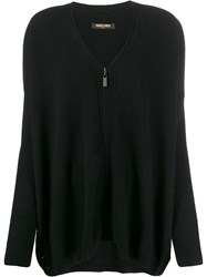 Max And Moi Zip Up Cardigan Black