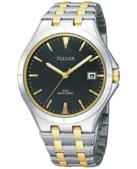Pulsar Men's Dress Sport Two Tone Stainless Steel Bracelet Watch 38Mm Pxh909