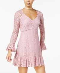 American Rag Juniors' Lace Empire Waist Dress Created For Macy's Pink