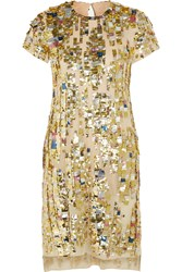 Reed Krakoff Embellished Woven Cotton Dress