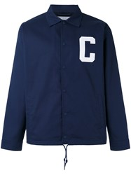 Carhartt Letter Shirt Jacket Blue
