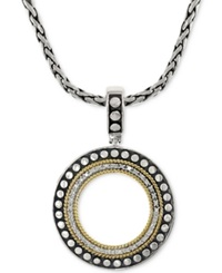 Effy Collection Effy Diamond Circle Pendant Necklace 1 6 Ct. T.W. In 18K Gold And Sterling Silver No Color