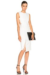 Mason By Michelle Mason Side Tie Midi Dress In White