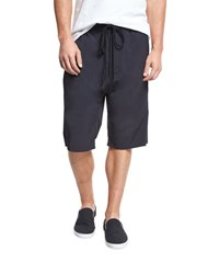 Vince Athletic Drop Rise Stretch Nylon Shorts Black