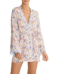 In Bloom Floral Yoryu Crepe Wrap Blue Floral