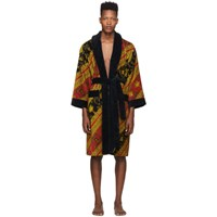 Versace Red And Gold I Heart Baroque Robe