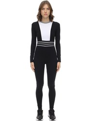 No Ka' Oi Intrigue Stretch Nylon Jumpsuit Black