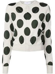 Toga Polka Dot Cardigan White