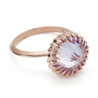 Katie Rowland Women's Mini Orb Ring 18 Carat Rose Gold