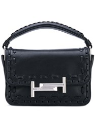 Tod's Mini 'Double T' Tote Women Calf Leather One Size Black