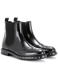 Dolce And Gabbana Embellished Chelsea Boots Black