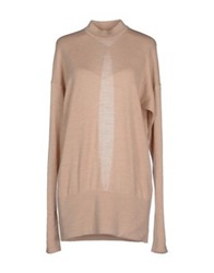 Just Cavalli Turtlenecks Beige