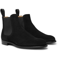 Cheaney Godfrey Suede Chelsea Boots Black