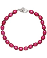 Honora Style Cherry Cultured Freshwater Pearl Bracelet In Sterling Silver 7 8Mm