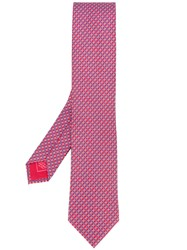 Brioni Patterned Tie Men Silk One Size Red