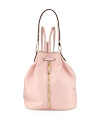 Elizabeth And James Cynnie Leather Drawstring Backpack Pink Beach