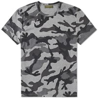 Valentino Over Printed Camo Tee Grey