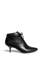 Michael Kors 'Talulah' Leather Lace Up Booties Black