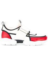Msgm Panelled Sneakers White