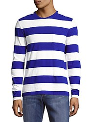 Polo Ralph Lauren Striped Long Sleeve Tee Blue White