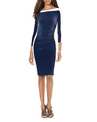 Ralph Lauren Petites Color Block Dress Lighthouse Navy