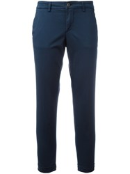 Fay Slim Fit Trousers Blue