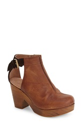 Free People 'Amber Orchard' Cutout Bootie Women Chocolate Leather