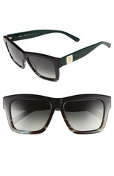 Women's Mcm 56Mm Retro Sunglasses Black Striped Aqua