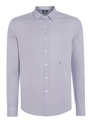Replay Men's Shirt With Small Geometric Print Blue