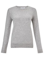 John Lewis Cashmere Crew Neck Jumper Light Grey