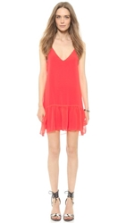 Rory Beca Danica Flounce Ruffle Dress Shocking