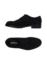 Galliano Lace Up Shoes Dark Blue