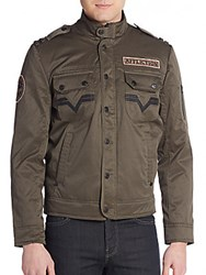 Affliction Invisible Line Jacket Dark Green