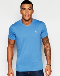 Abercrombie And Fitch Muscle Fit V Neck T Shirt In Blue Cc220 Palace Blue