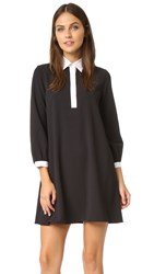 Alice Olivia Fatima Collared Shift Dress Black White