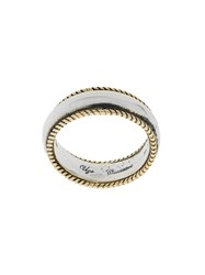 Ugo Cacciatori Bordered Ring Metallic