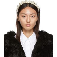 Simone Rocha White Cluster Baroque Hairband