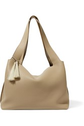 The Row Duplex Horse Hair Trimmed Textured Leather Shoulder Bag