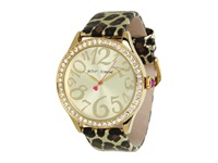 Betsey Johnson Bj00131 10 Analog Metallic Leopard Printed Strap Watch Leopard Analog Watches Animal Print