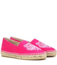 Kenzo Embroidered Espadrilles Pink
