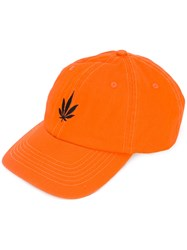 Palm Angels Logo Cap Yellow Orange