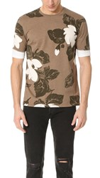 3.1 Phillip Lim Double Sleeve Night Floral Tee Army