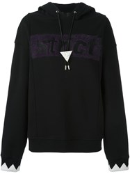 Alexander Wang T By Oversized Strict Hoodie Black