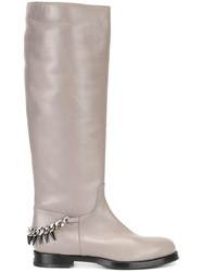 Le Silla Chain Detail Boots Grey