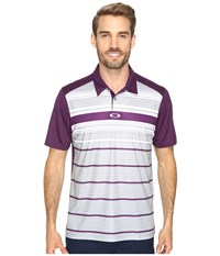 Oakley Legacy Polo Deep Plum Men's Short Sleeve Pullover Purple