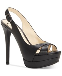 Jessica Simpson Willey Slingback Platform Dress Sandals Women's Shoes Black
