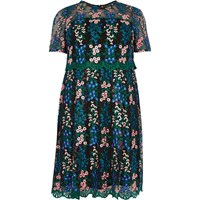 River Island Womens Ri Plus Floral Mesh Skater Dress
