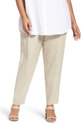 Eileen Fisher Plus Size Women's Organic Linen Slouchy Pants Undyed Natural